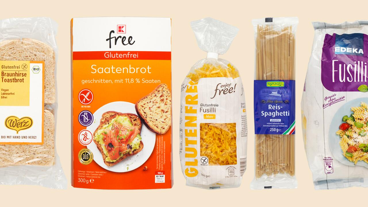 Glutenfreie Lebensmittel im Test: Schadstoffe in Brot und Nudeln