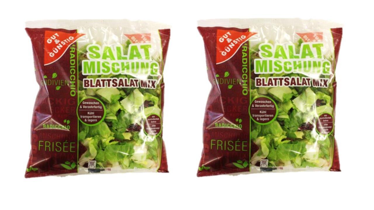 Salatmischung in der 150-Gramm-Packung zurückgerufen