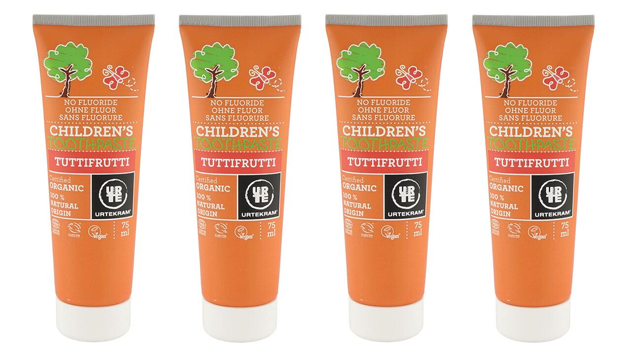Urtekram Children's Toothpaste nach Test mit Altersangabe
