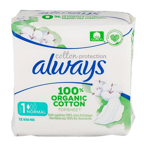 Always Cotton Protection Binden normal mit Flügeln