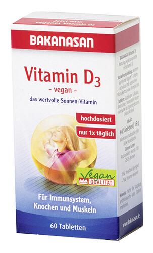Bakanasan Vitamin D3, Tabletten