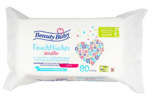 Beauty Baby Feuchttücher Sensitiv, 4er Pack