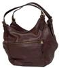 Esprit Hobo Bag mit schrägem Zipper, bordeaux