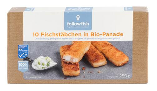 Followfish 10 Fischstäbchen in Bio-Panade