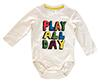 "H & M Jersey Fancy Boy, ""Play All Day"", beige"