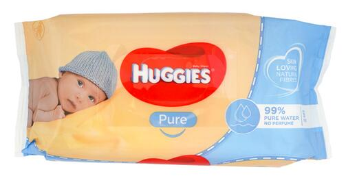 Huggies Pure Baby Wipes 99% Wasser, 4er Pack