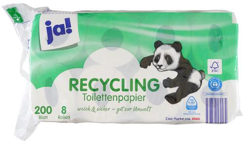 Ja! Recycling Toilettenpapier