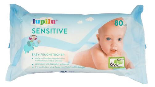 Lupilu Sensitive Baby-Feuchttücher, 4er Pack