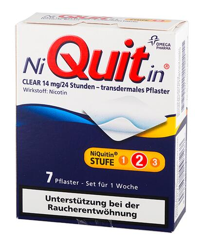 Niquitin Clear 14 mg/24 Stunden - transdermales Pflaster