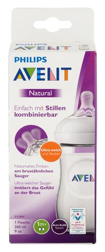 Philips Avent Natural Flasche, 1m+, 260 ml, SCF033/16