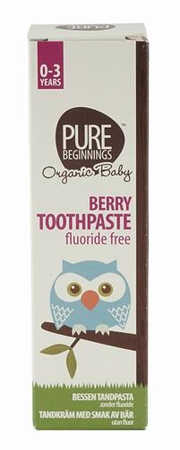 Pure Beginnings Berry Toothpaste Fluoride Free