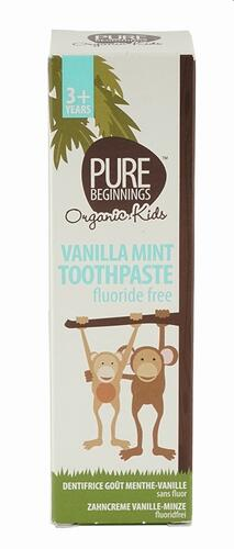 Pure Beginnings Vanilla Mint Toothpaste Fluoride Free