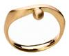 Ring Welle ecological, fair mined, fair-traded, Gelbgold 750