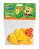 Spongebob 8 Luftballons, gelb/orange
