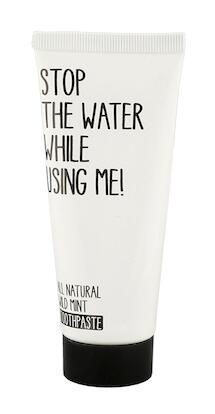 Stop the water while using me! Wild mint Toothpaste
