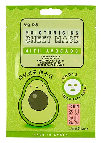 Sugu Beauty Moisturising Sheet Mask With Avocado