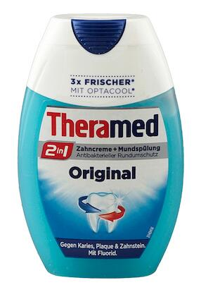 Theramed 2 in 1 Zahncreme + Mundspülung Original