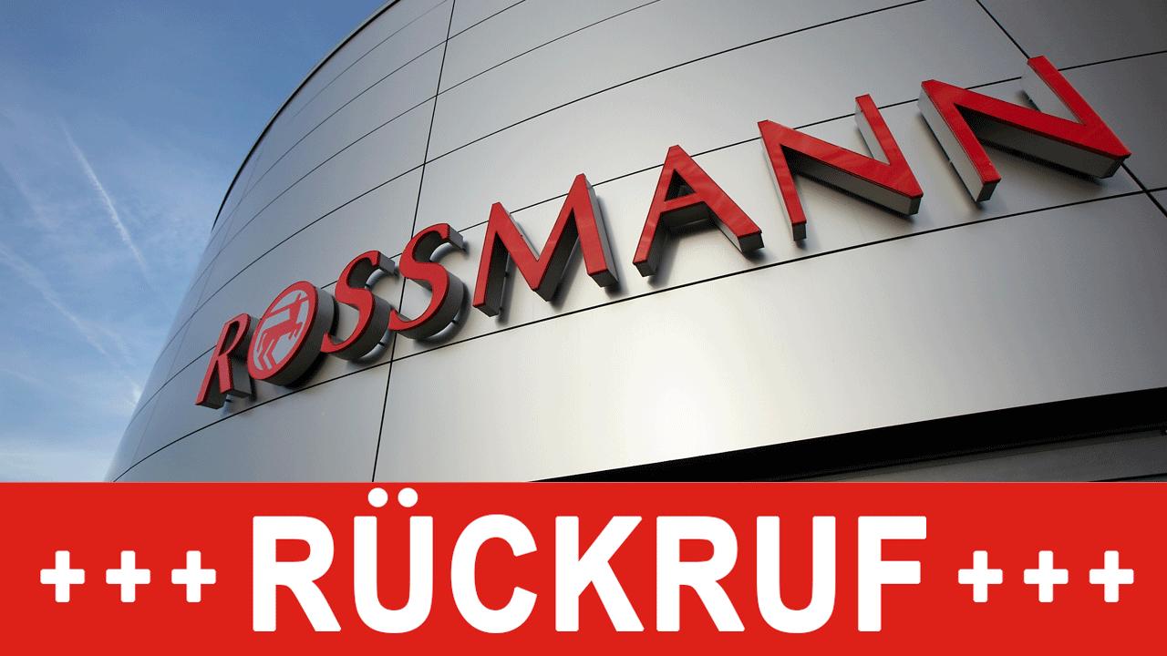 Rossmann rückruf