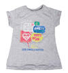 Zara Girls Casual T-Shirt, grau