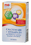 Real Quality Calcium 600 + Vitamin D3, Tabletten