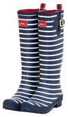 Joules Wellies, Navy Stripe