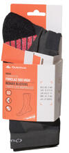Quechua Socks Forclaz 500 High, concrete red