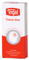 Togal Classic Duo, Tabletten