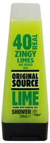 Original Source 40 Real Zingy Limes, Lime Shower