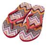 Only Fiona AOP Flip Flop, Faded Rose/Zigzag
