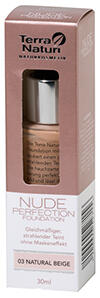 Terra Naturi Nude Perfection Foundation, 03, Natural Beige