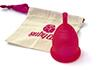 Ruby Cup Menstrual Cup Mittel, rot