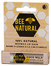 Bee Natural Coco Nilla 100% Beeswax Lip Balm