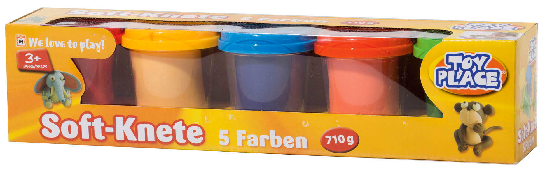 Toy Place Soft-Knete, 5 Farben